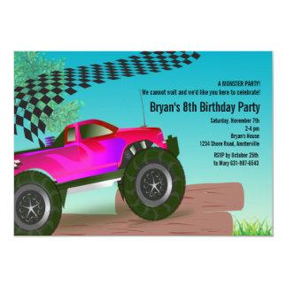 Convite de aniversário do vermelho do monster