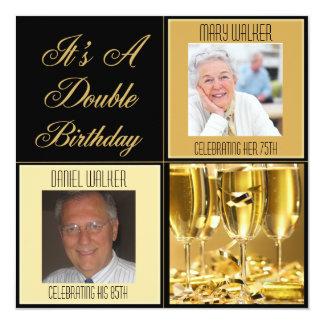 Convite de aniversário dobro para alguma idade