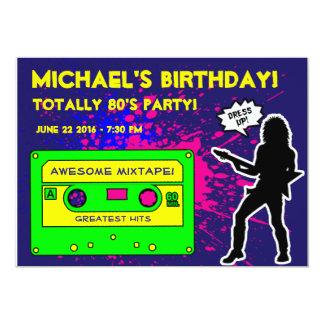 convite de aniversário dos anos 80