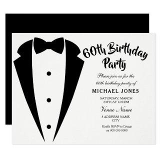 Convite de aniversário dos homens 60th do terno &