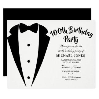 Convite de aniversário dos homens do terno & do
