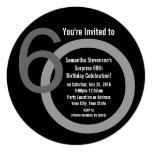 Convite de aniversário dos números redondos 60th