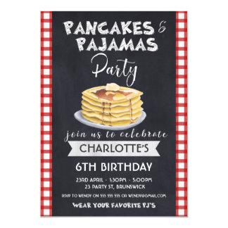 Convite de aniversário dos pijamas das panquecas