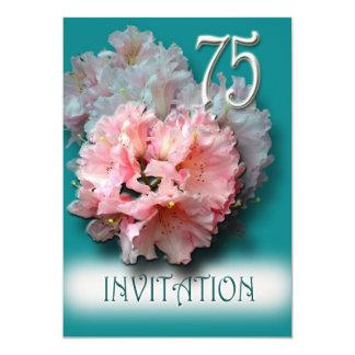 Convite de aniversário dos rododendros 75th