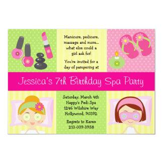 Convite de aniversário dos termas de Mani Pedi