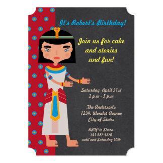 Convite de aniversário egípcio da dança do faraó