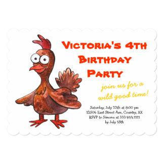 Convite de aniversário engraçado da galinha