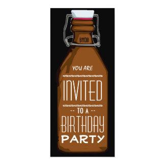 Convite de aniversário engraçado da garrafa de convite 10.16 x 23.49cm
