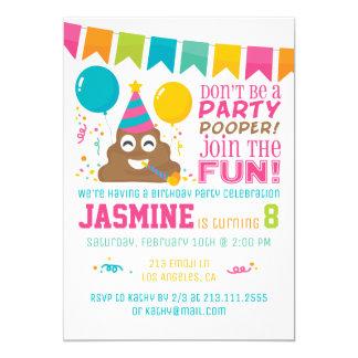 Convite de aniversário engraçado de Emoji do