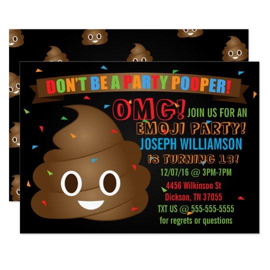 Birthday Party Games Are Hilarious For 8 9 10 11 And 12: Convite De Aniversário Engraçado De Emoji Do