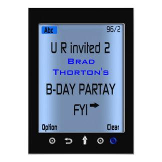 Convite de aniversário esperto adolescente de