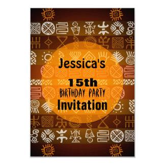 Convite de aniversário étnico do verão 15o