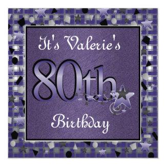 Convite de aniversário feliz do 80