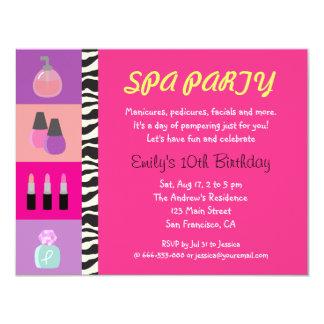 Convite de aniversário feminino colorido dos convite 10.79 x 13.97cm