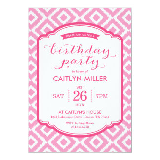 Convite de aniversário feminino dos diamantes de