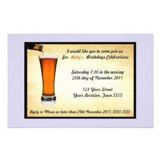 Convite de aniversário flyer 13.97 x 21.59cm