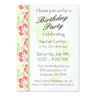 Convite de aniversário havaiano de Luau