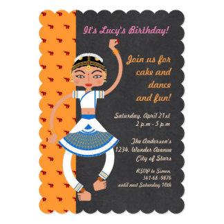 Convite de aniversário indiano da menina de dança