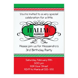 Convite de aniversário italiano do bebê (c)