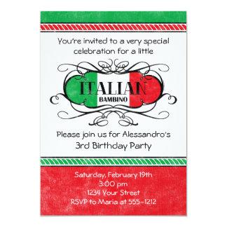 Convite de aniversário italiano do bebê (d)