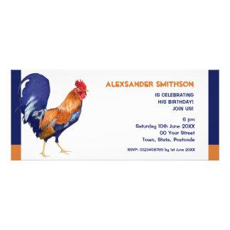 Convite de aniversário longo do galo