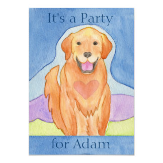 Convite de aniversário Loving do cão