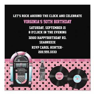Convite de aniversário lunático do 50