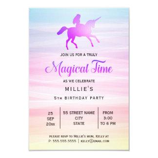 Convite de aniversário mágico do unicórnio |