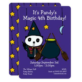 Convite de aniversário mágico personalizado
