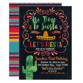 Convite de aniversário mexicano da festa
