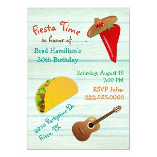 Convite de aniversário mexicano da festa do