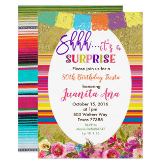 Convite de aniversário mexicano da surpresa