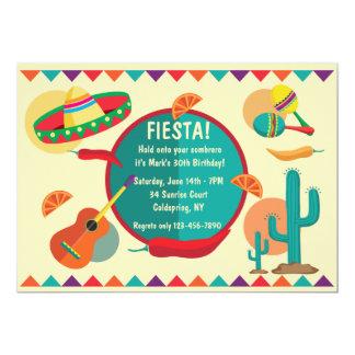 Convite de aniversário mexicano do tema
