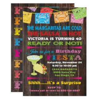 Convite de aniversário mexicano rústico da festa