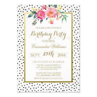 Convite de aniversário moderno das bolinhas