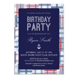 Convite de aniversário - náutico, verão