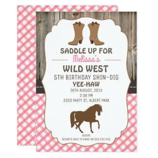 Convite de aniversário ocidental selvagem do