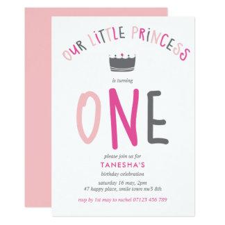 Convite de aniversário pequeno da princesa