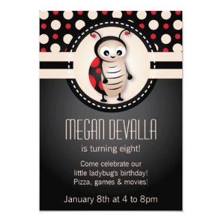 Convite de aniversário pequeno do joaninha