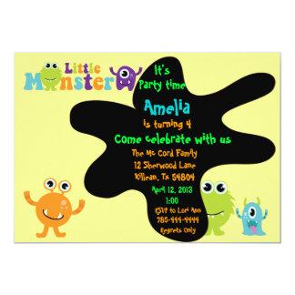 Convite de aniversário pequeno do monstro