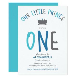 Convite de aniversário pequeno do príncipe