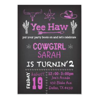 Convite de aniversário personalizado da vaqueira