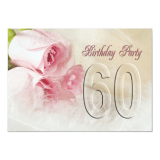 Convite de aniversário por 60 anos convite 12.7 x 17.78cm