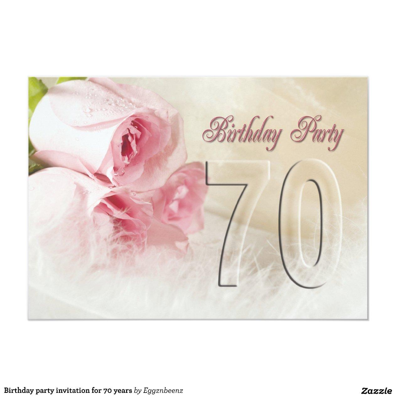 Convite Aniversario 70 Anos Feminino Convite de Aniversário Por 70