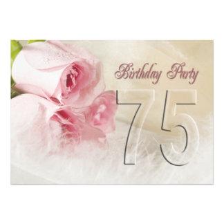 Convite de aniversário por 75 anos