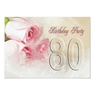 Convite de aniversário por 80 anos