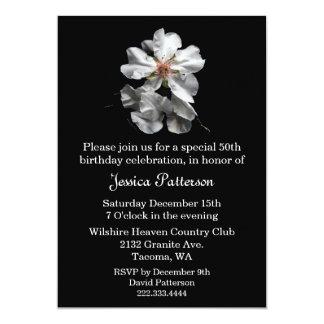 Convite de aniversário preto e branco elegante