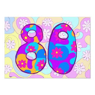 Convite de aniversário retro do 80
