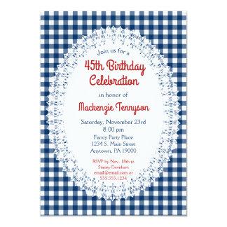 Convite de aniversário rústico do guingão dos