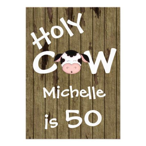 Convite de aniversário santamente engraçado da vac